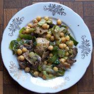 Cizrna s kuřecím masem recept