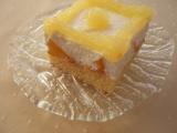 Broskvový koláč z pudingového těsta recept