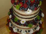Nahý dort s ovocem recept