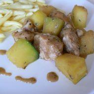 Provensálské kuřecí kostky s cuketou recept