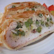 Závin s kuřecím masem a hráškem recept