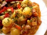 Brambory v zelenině recept