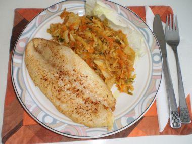 Rybí filé dušené s patizonem