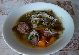 Zeleninová polévka s játrovými knedlíčky recept