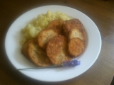 Smažený lilek s bylinkami a bramborem recept