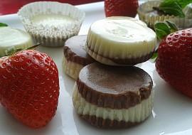 Čokoládové dvoubarevné košíčky. recept