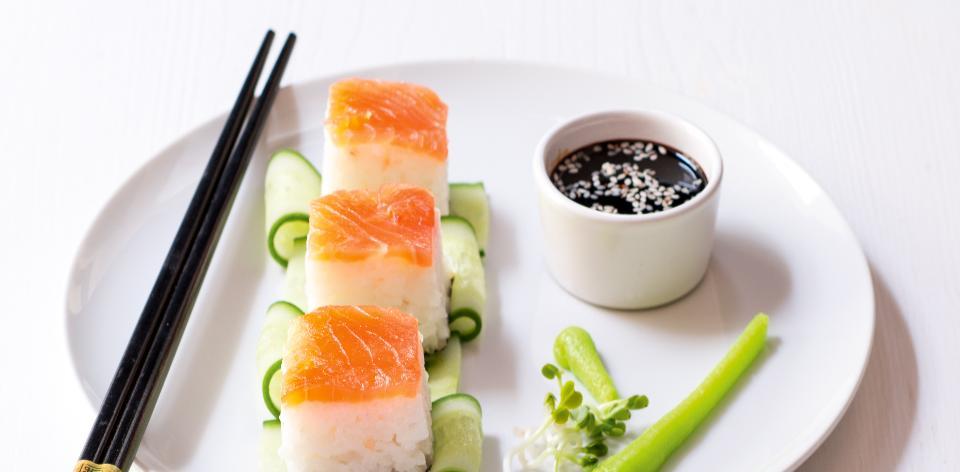 Jednoduché lososové sushi
