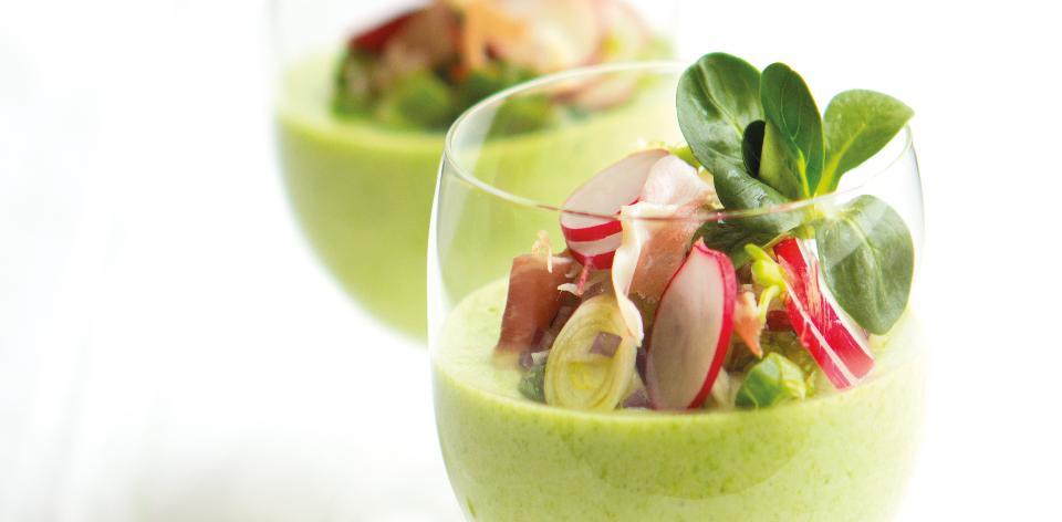 Salát s chřestovou pěnou