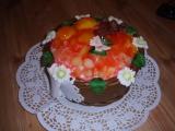 Košík plněný krémem a ovocem recept