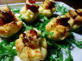 Kytičky z listového těsta se sýrem a pršutem recept