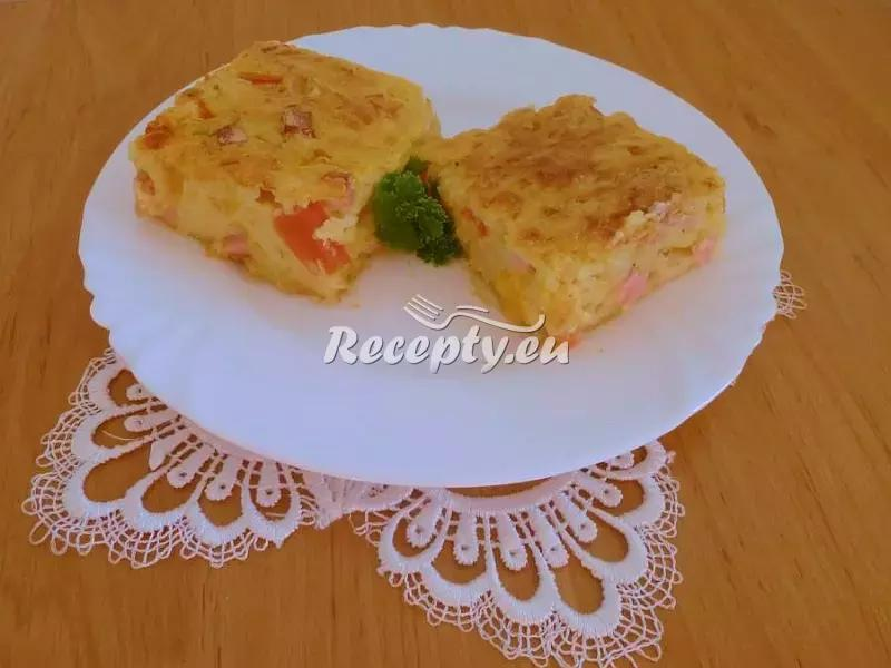 Pečený cuketový koláč recept  zeleninové pokrmy