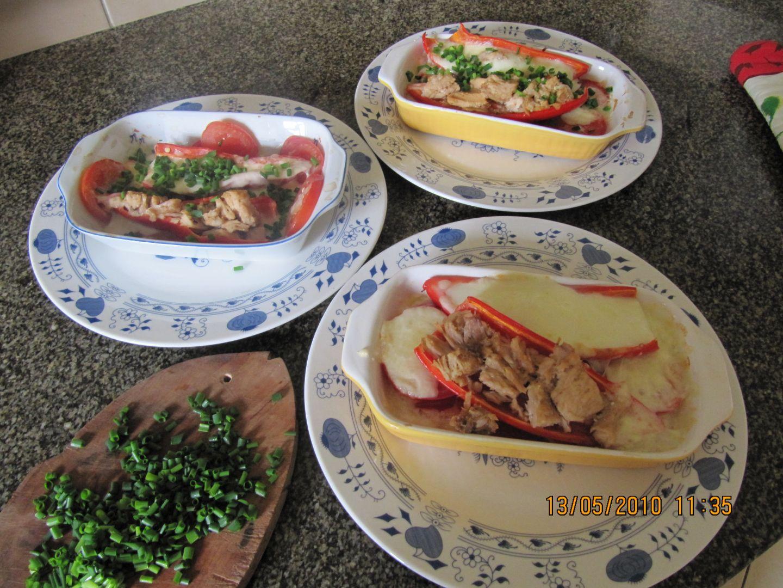 Vynikající plněné zapečené papriky+pohanka recept