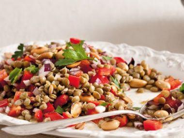 Čočkový bezmasý salát