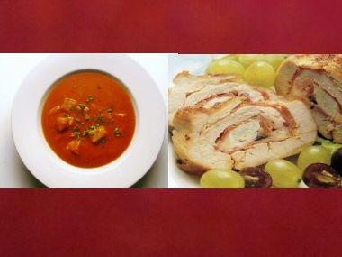 Sváteční oběd 28  Rybí polévka a Krůtí roláda  dia
