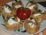 Toasty s pečeným česnekem a kozím sýrem recept