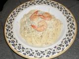 Špagety s krevetami a nivou recept