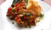 Kuřecí čtvrtky v pikantní zelenině recept