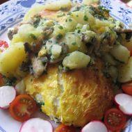 Zapékané špenátové brambory se žampiony recept