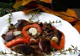 Salát ze zelené čočky s václavkami  pro Magdalenku recept ...