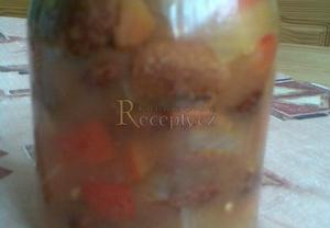 Fazolový salát  sterilovaný