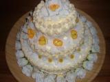Svatební dort třípatrový  domácí recept