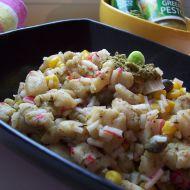 Rybí salát se zeleným pestem recept