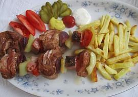 Maso na špejli se zeleninou recept