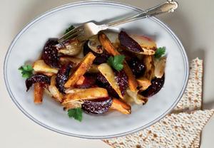 Pečené sladké brambory s řepou