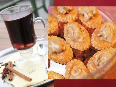 Čokoládové víno a listové oválky