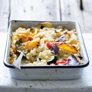 Rizoto s quionoou a pečenou zeleninou recept