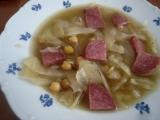 Cizrnová polévka s kapustou recept