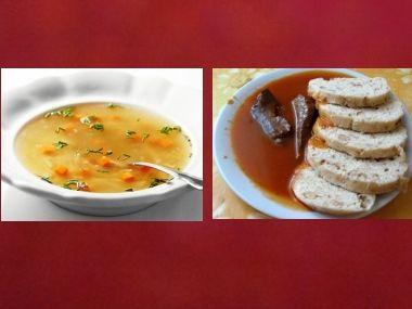 Oběd 6  Hovězí polévka a rajská