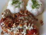 Kuře na hruškách s flambovanými ořechy recept