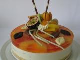 Jogurtový dort (s exotickým ovocem) recept