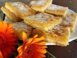 Křupavé citronové čtverečky k čaji recept