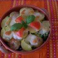 Zapečené brambory s brokolicí, rajčaty a mozzarellou recept ...