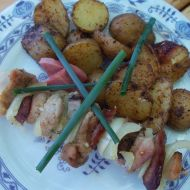 Vepřové ražniči s grilovanými brambory recept