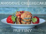 Jahodové cheesecake muffiny recept