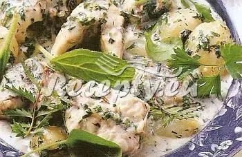 Úhoř s bylinkami v omáčce recept  ryby