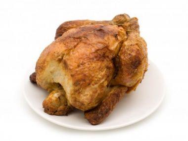Kuře pečené v soli