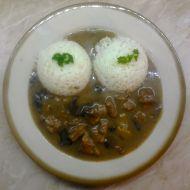 Vepřové kostky s hříbky recept