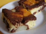 Mramorový koláč hruškový recept