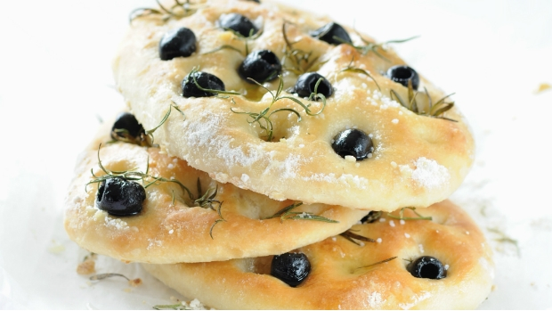 Focaccia s olivami