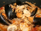 Risoto s mušlemi a houbami recept