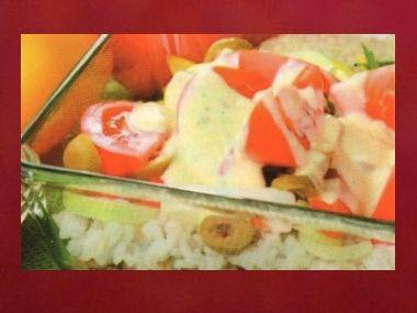 Večeře 53  Salát s čočkou a rýží