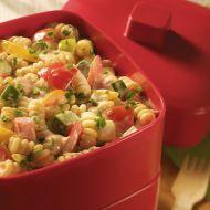 Zeleninový salát s majonézou a těstovinami recept