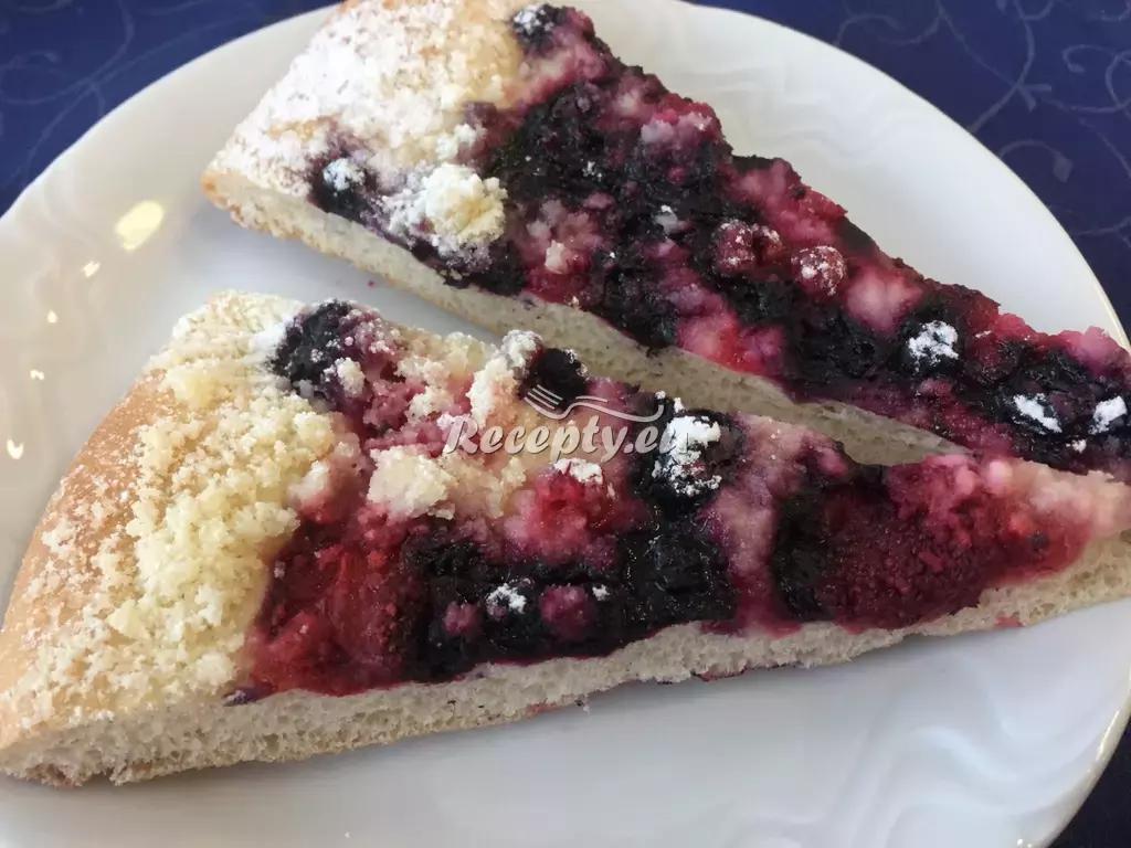 Borůvkový koláč recept  moučníky