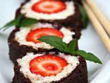 Jahodové sushi s mátovým wasabi recept