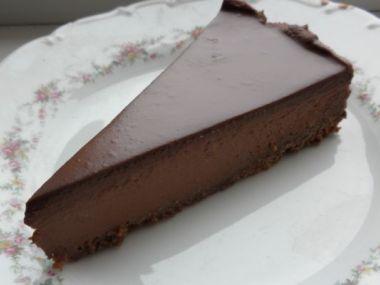 Jednoduchý,nepečený, čokoládový cheesecake