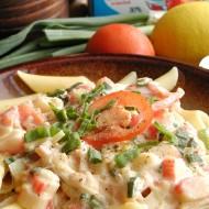 Těstoviny s omáčkou z krabích tyčinek recept